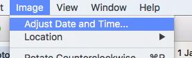 Image Adjust Date Time